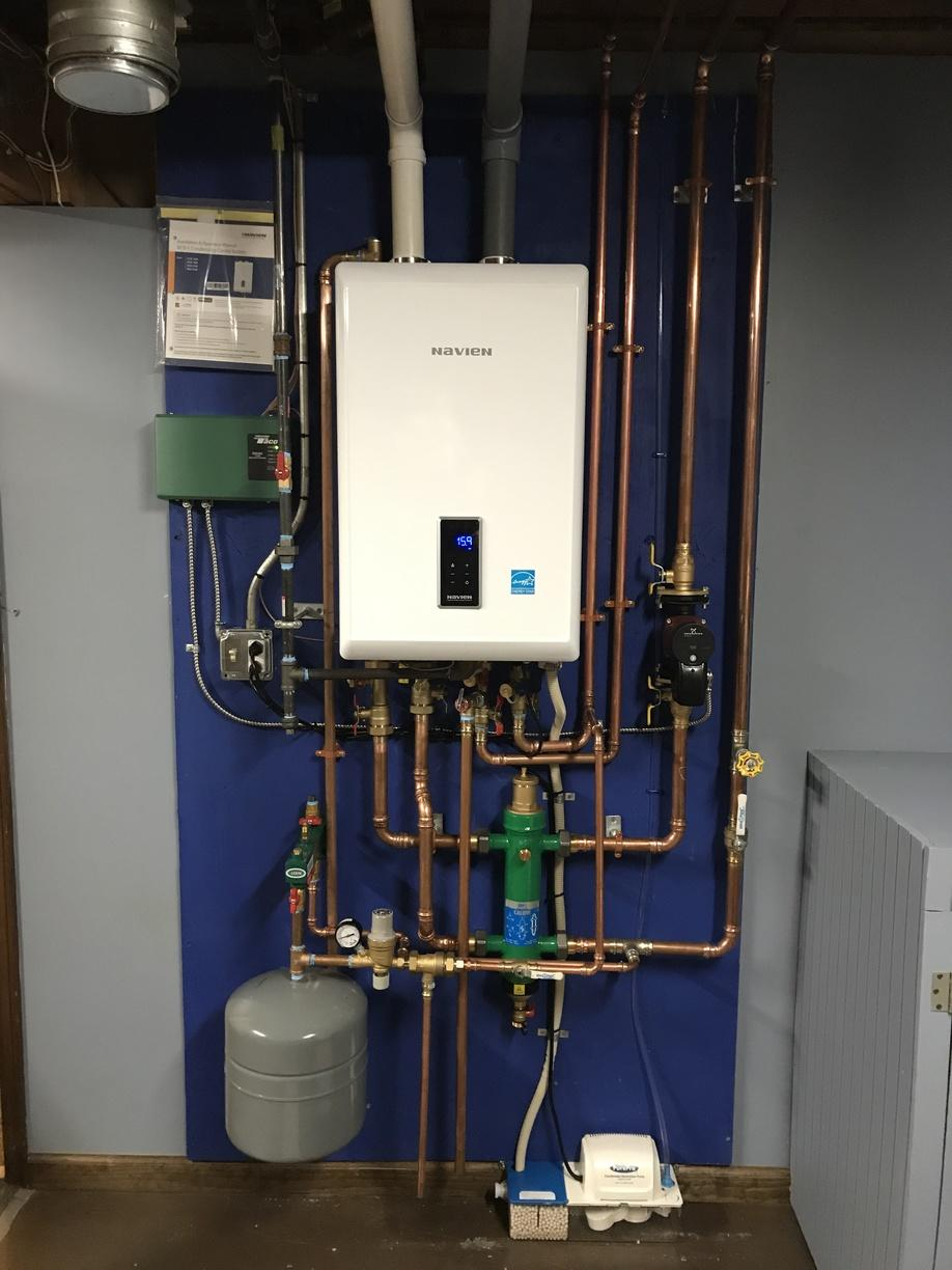 The Navien Combi boiler completed for our customer in West Haven, CT!