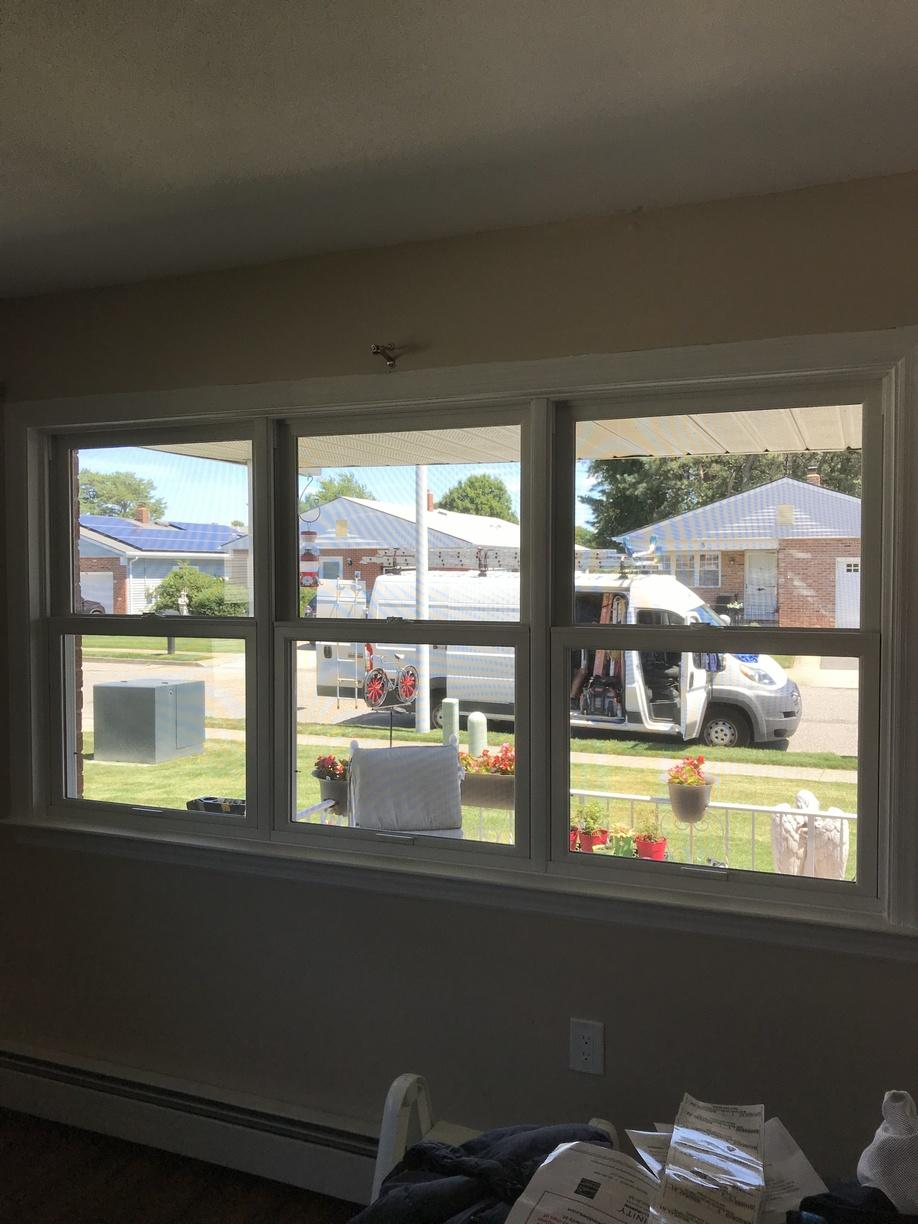 Triple Double Hung Window Install in Toms River, NJ