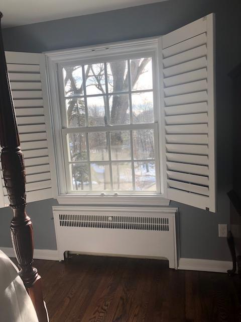 Marvin Infinity Double Hung Installed in Bedroom