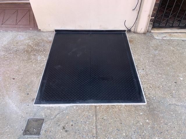 Custom Diamond Plate on the sidewalk in Philadelphia, PA
