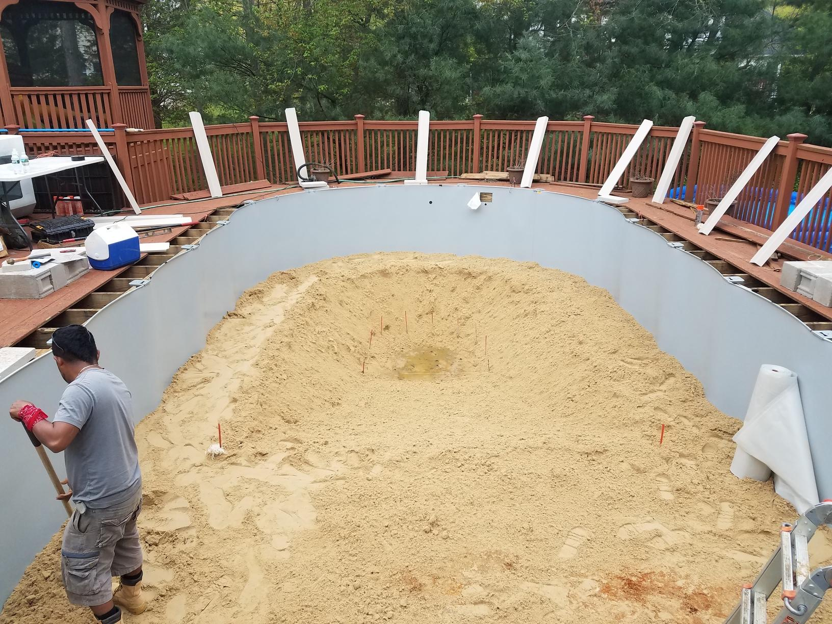 Pool Take Down and Re-Installation in Freehold, NJ