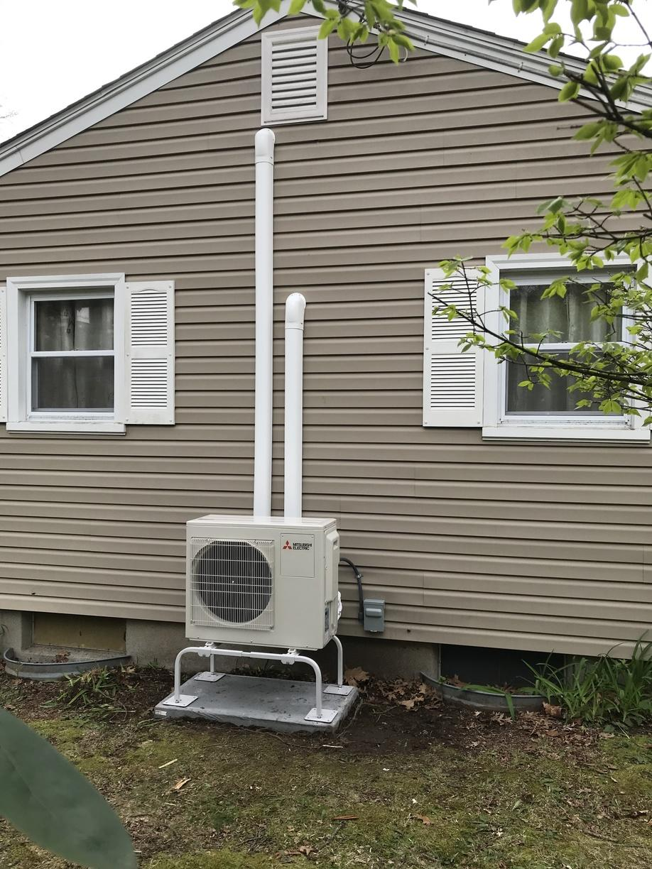 Ductless installation done for our customer in Uncasville!