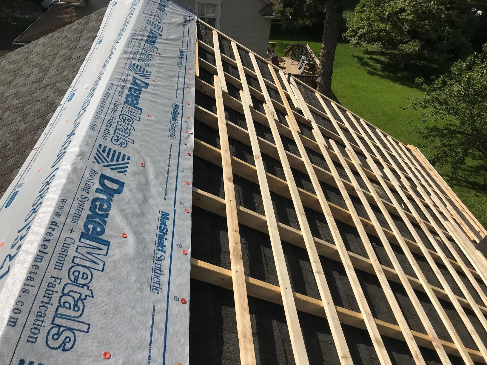 Applying Wood for Metal to be Installed Over Shingles