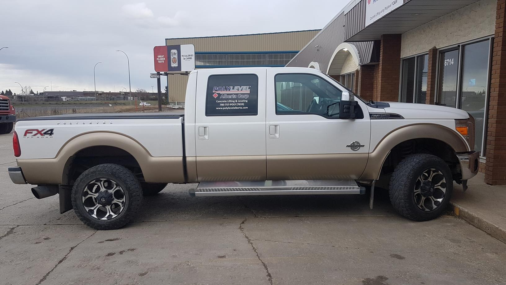 PolyLEVEL Alberta Fleet Truck