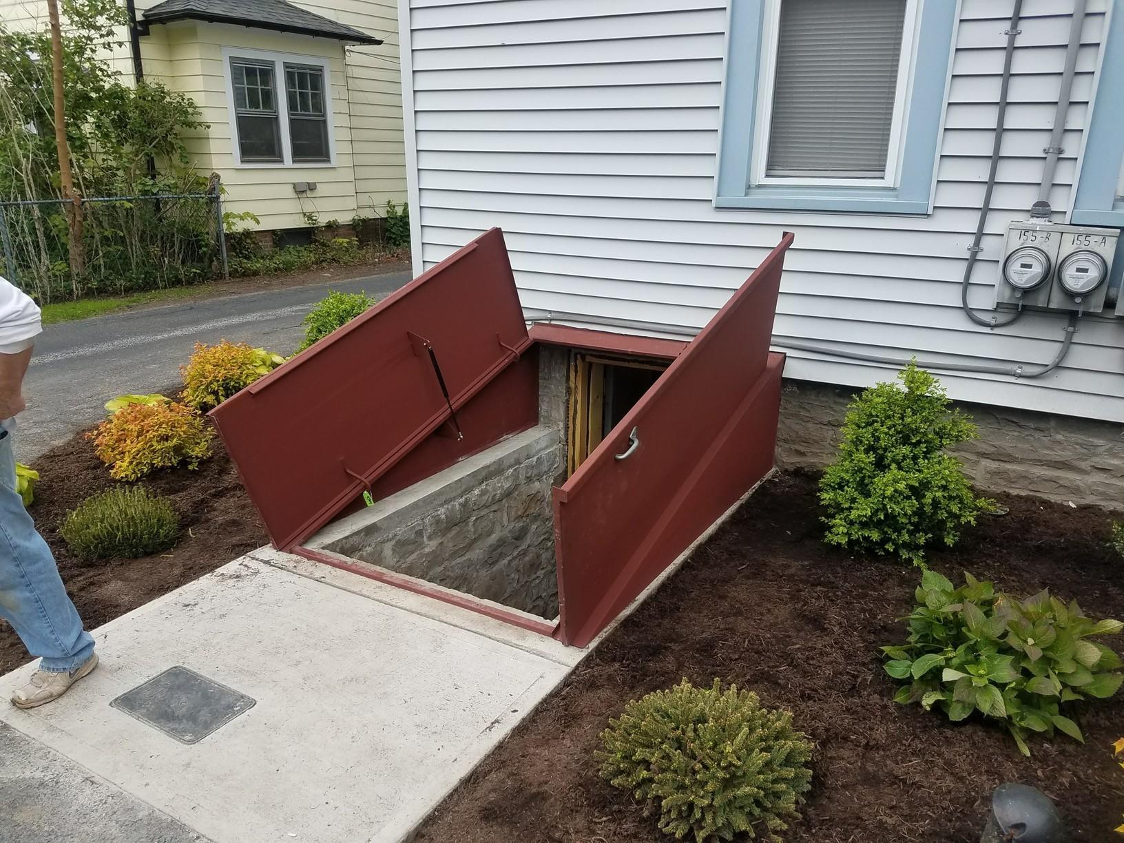 Galvanized Angle door in NY!