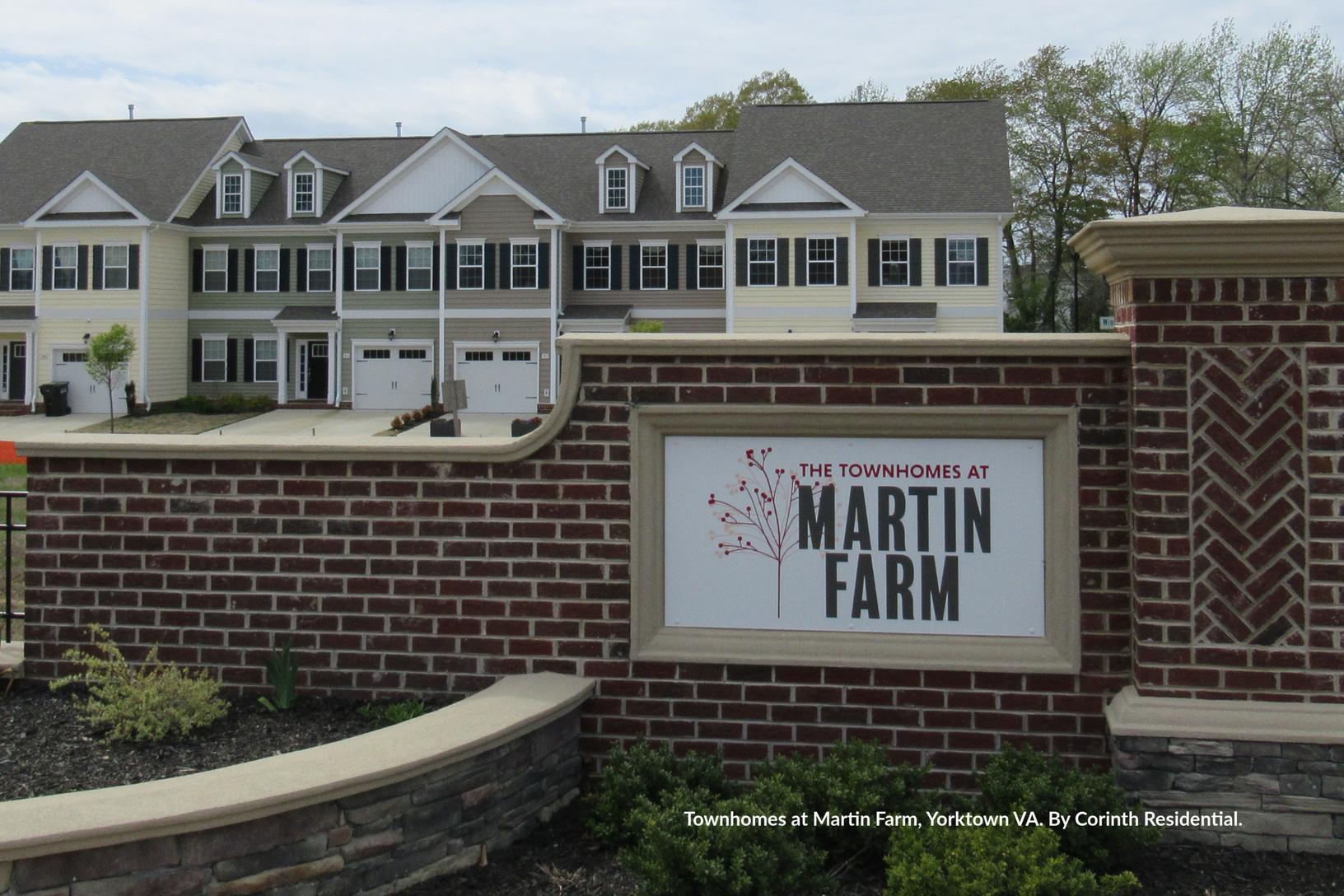 Townhomes at Martin Farm, Yorktown VA