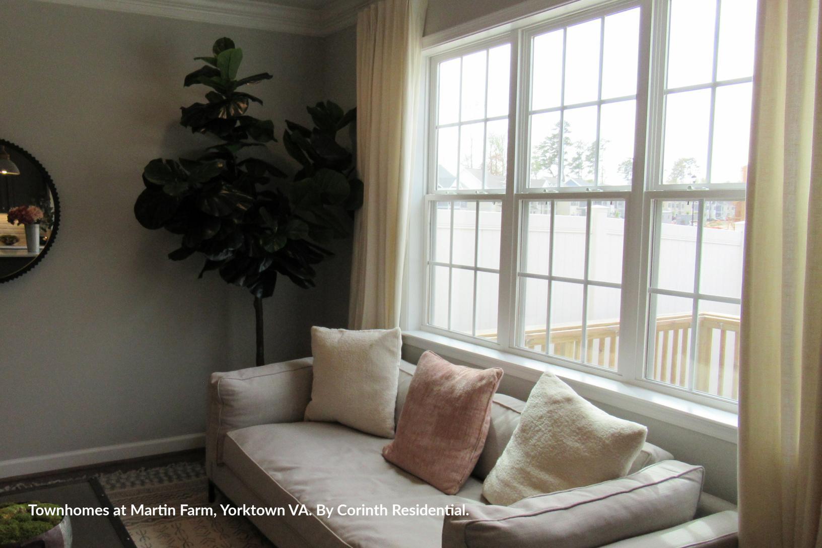 Single-Hung Windows in Model Home - Townhomes at Martin Farm, Yorktown VA