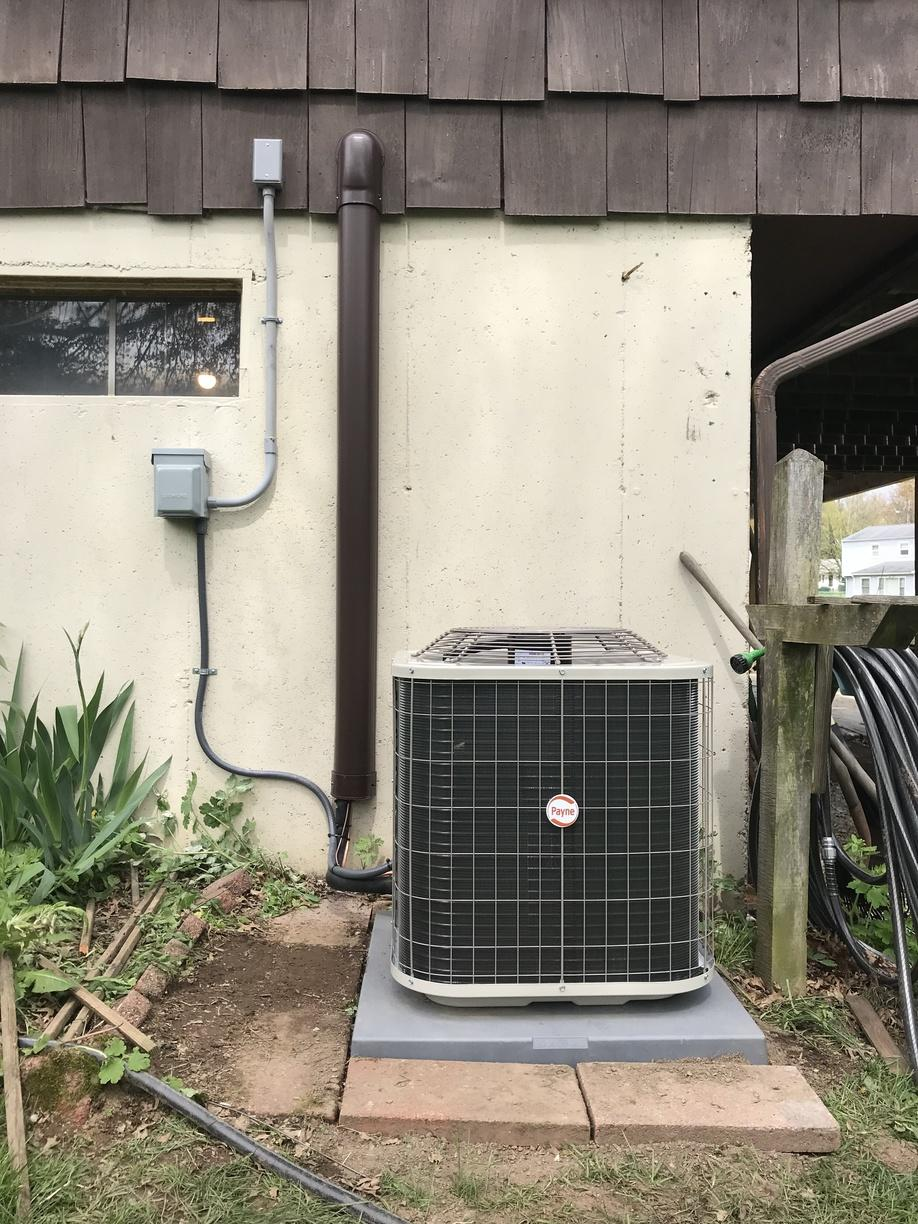 Another great AC installation done for our customer in West Haven, CT!