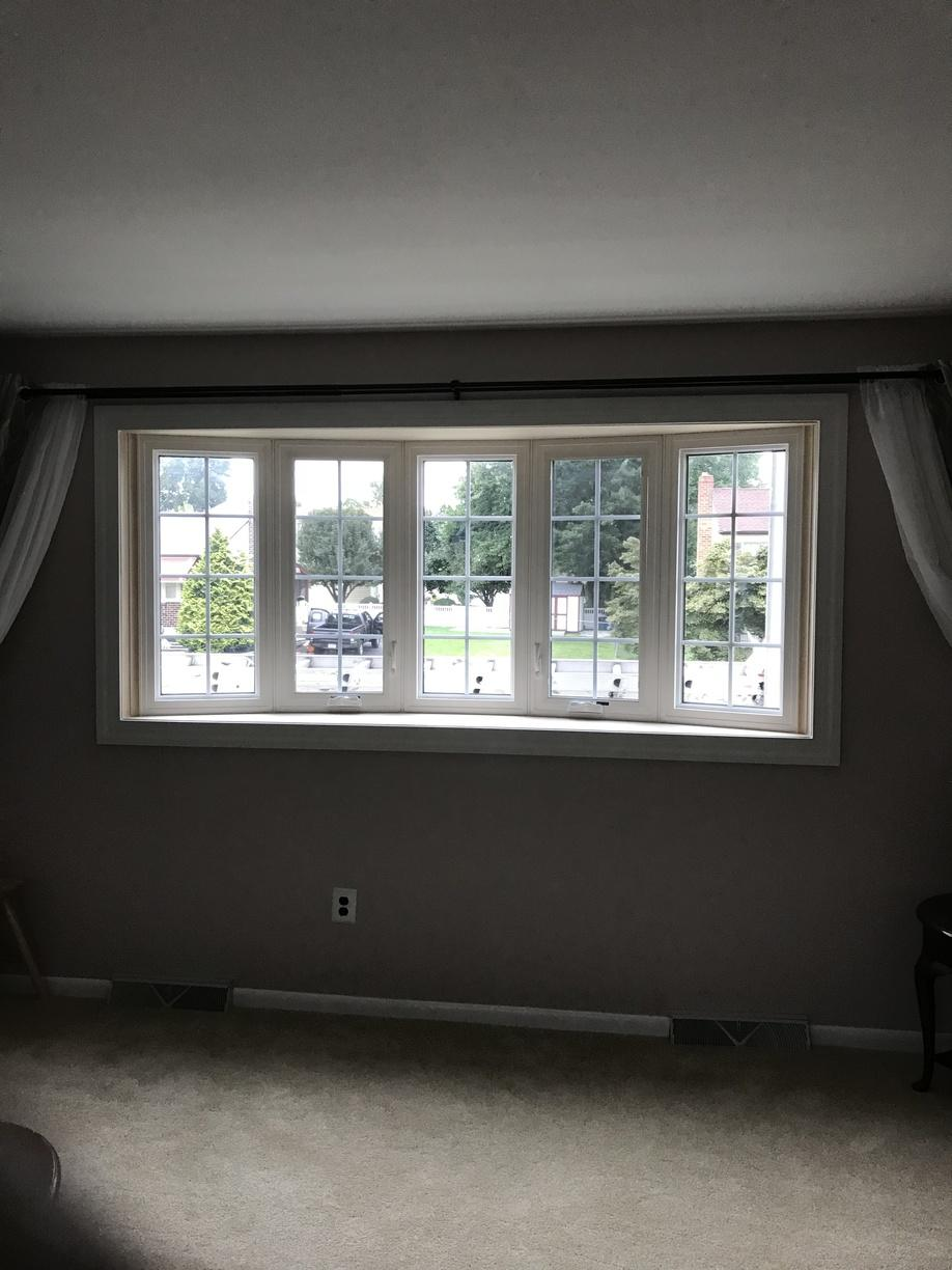 GlobaTech Vinyl Picture and Casement Bow Window Interior