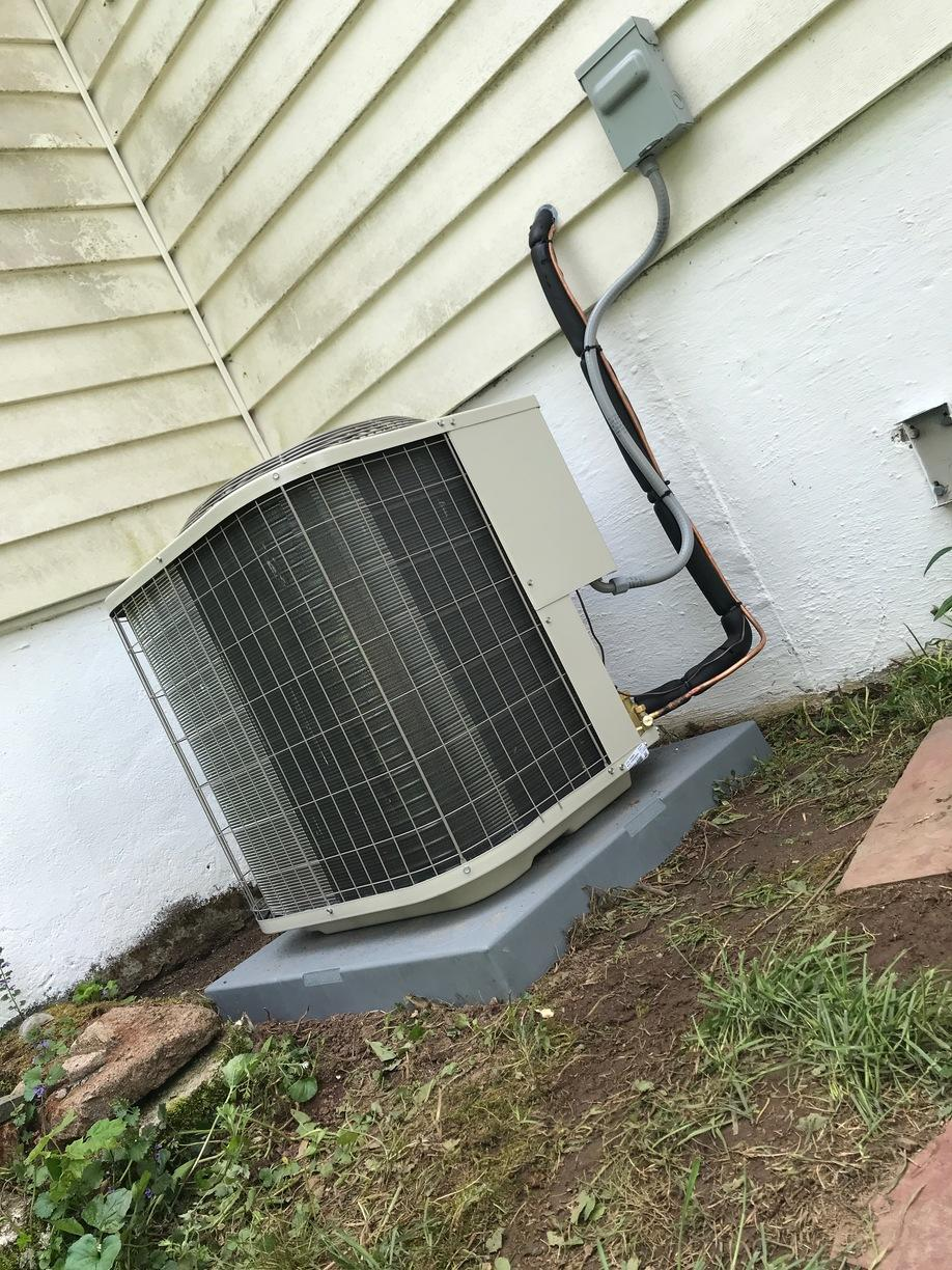 Central AC installation done for our customer in East Haven!