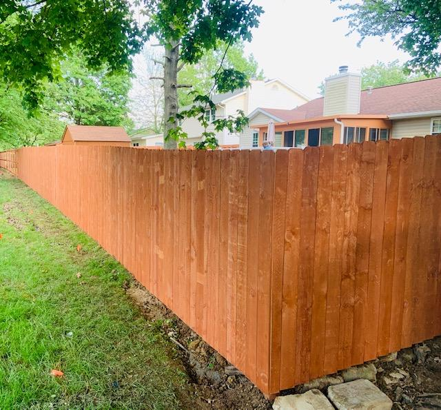 Fencing Wood Privacy Fence Chesterfield Il Wood