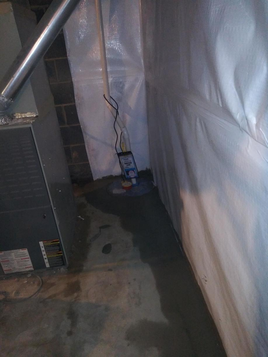 A SuperSump Pump System is installed