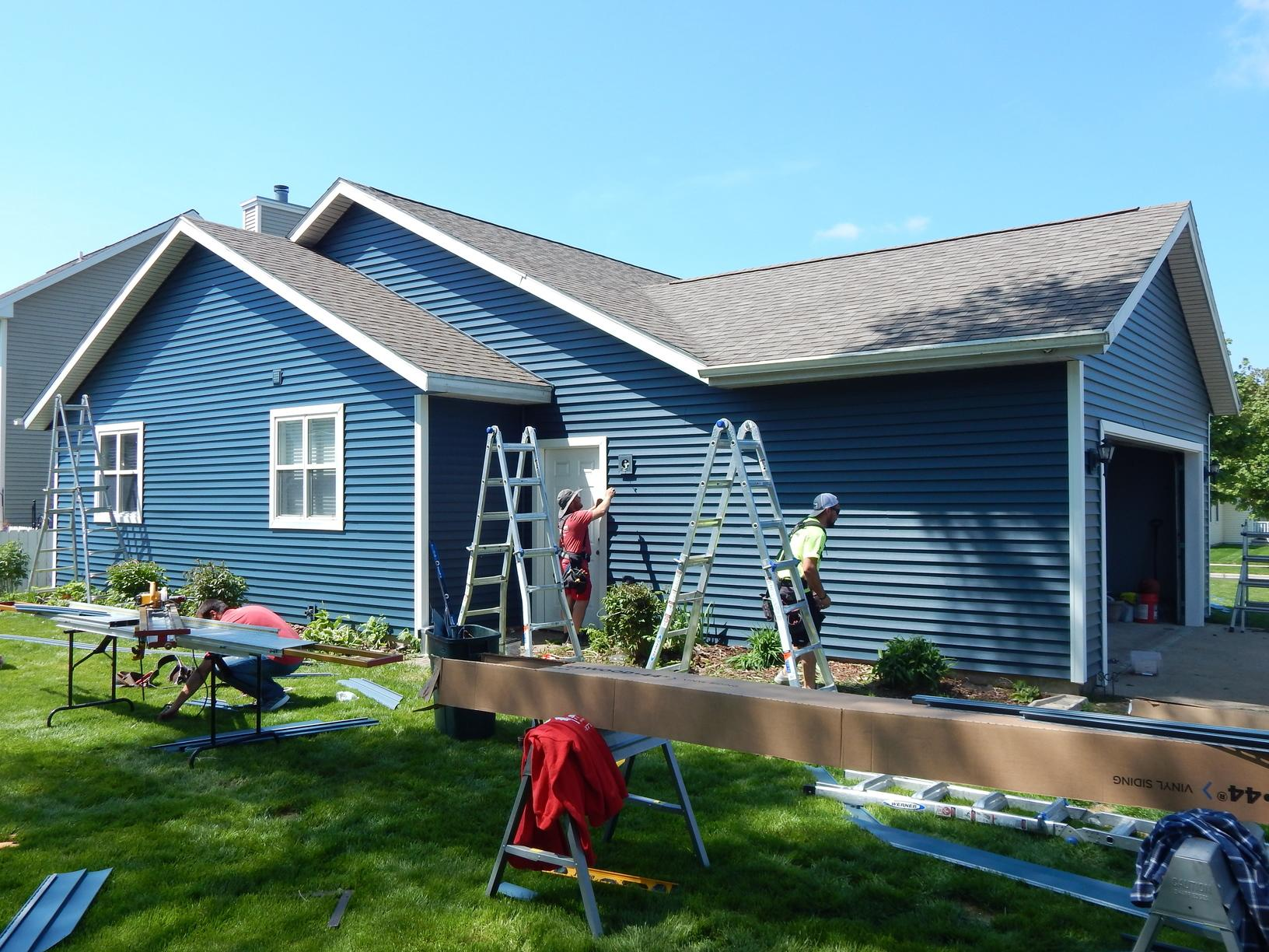 Siding New Siding Amp Gutters In Madison Wi Progress Photo