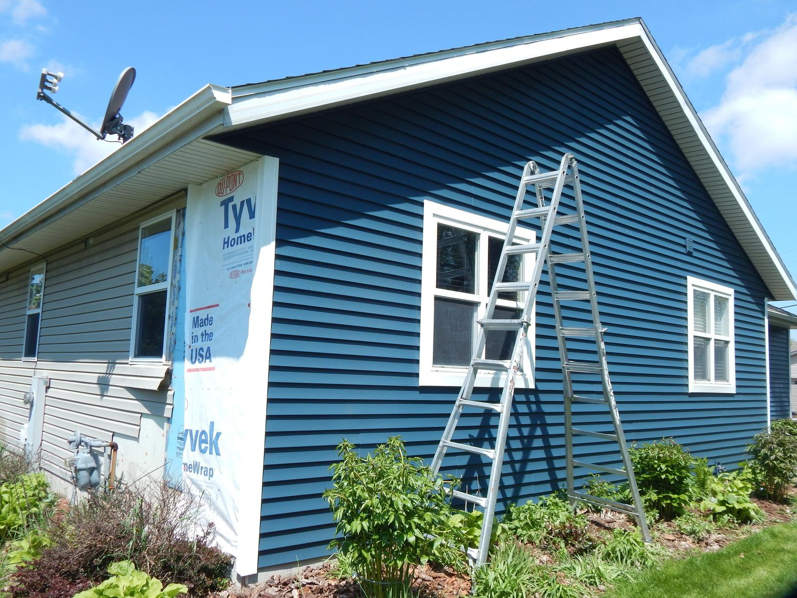 Siding New Siding Amp Gutters In Madison Wi Progress Photo