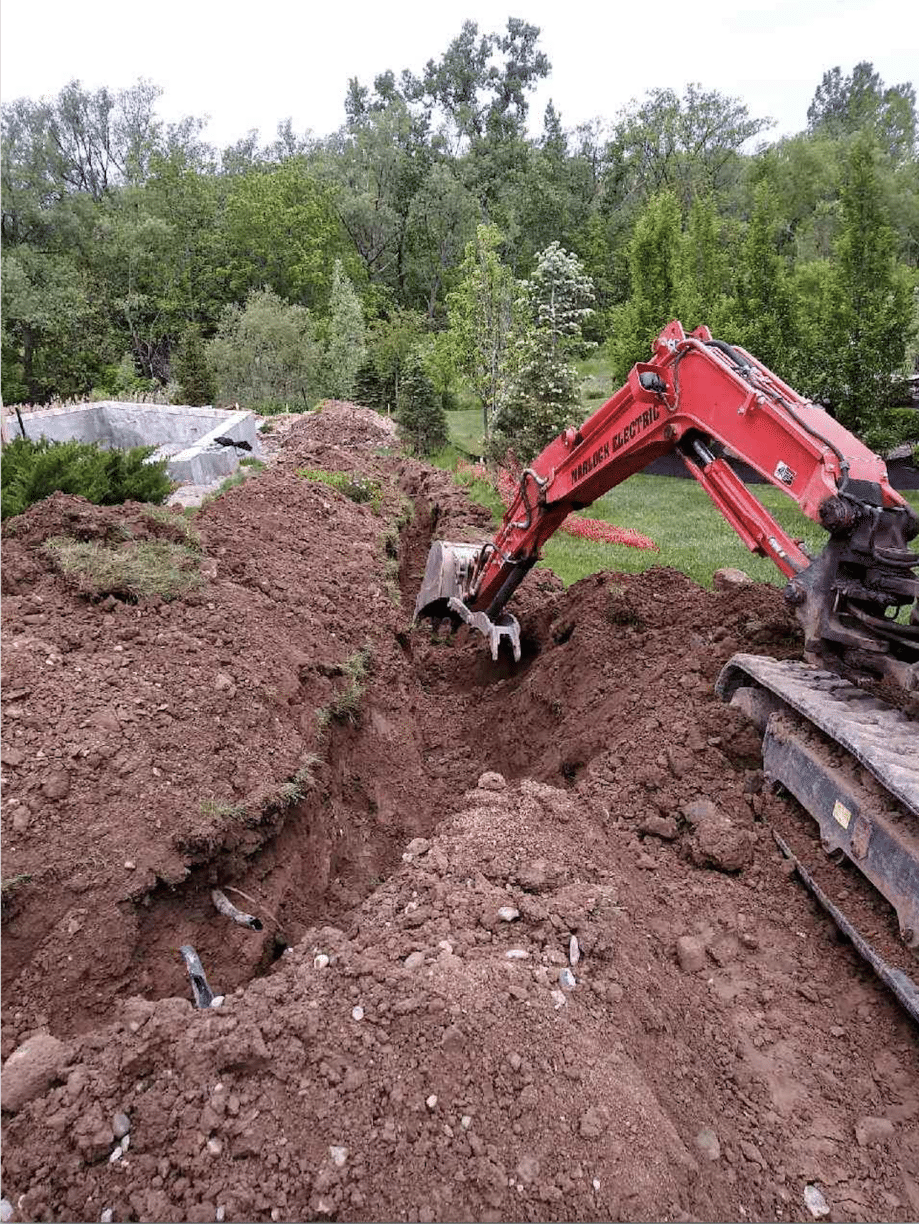 Digging Before Installing Service