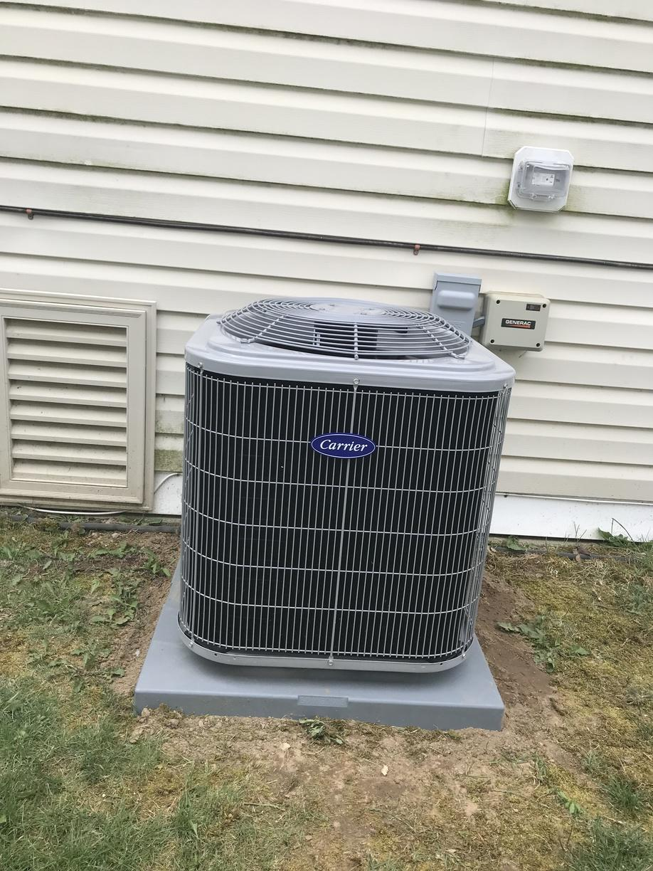 Central AC installation done for our customer in Ledyard!