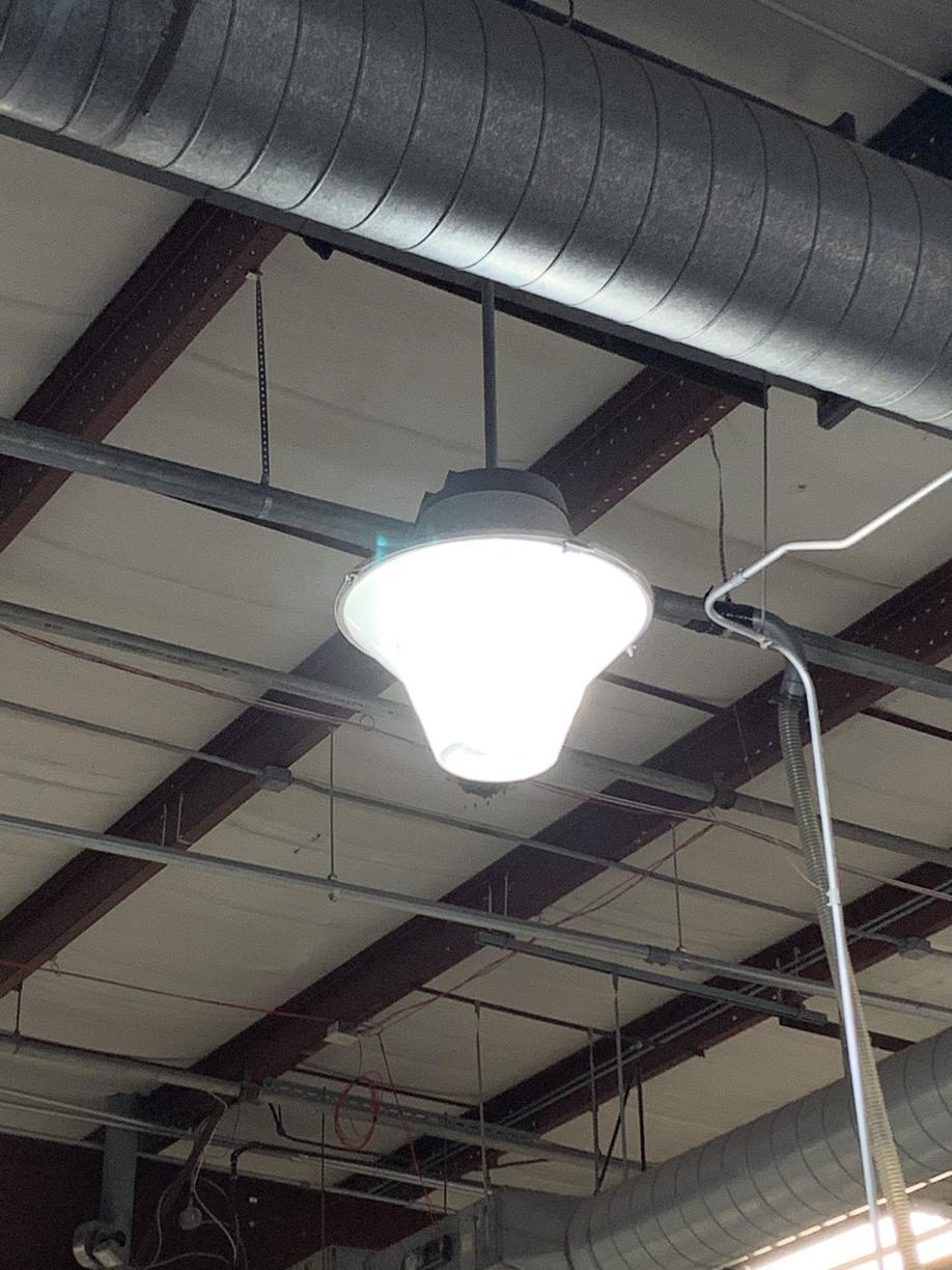 Old High Bay Fixtures with HID Lamp