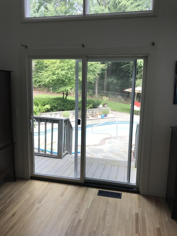 Marvin Infinity Sliding Patio Door Installation in North Caldwell, NJ