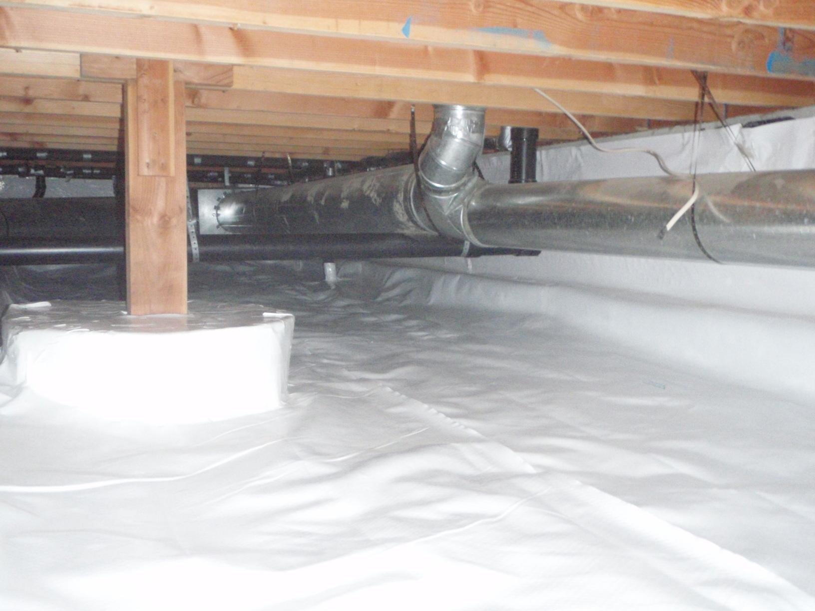 The Bow home owners were very pleased with the work we did in their crawl space