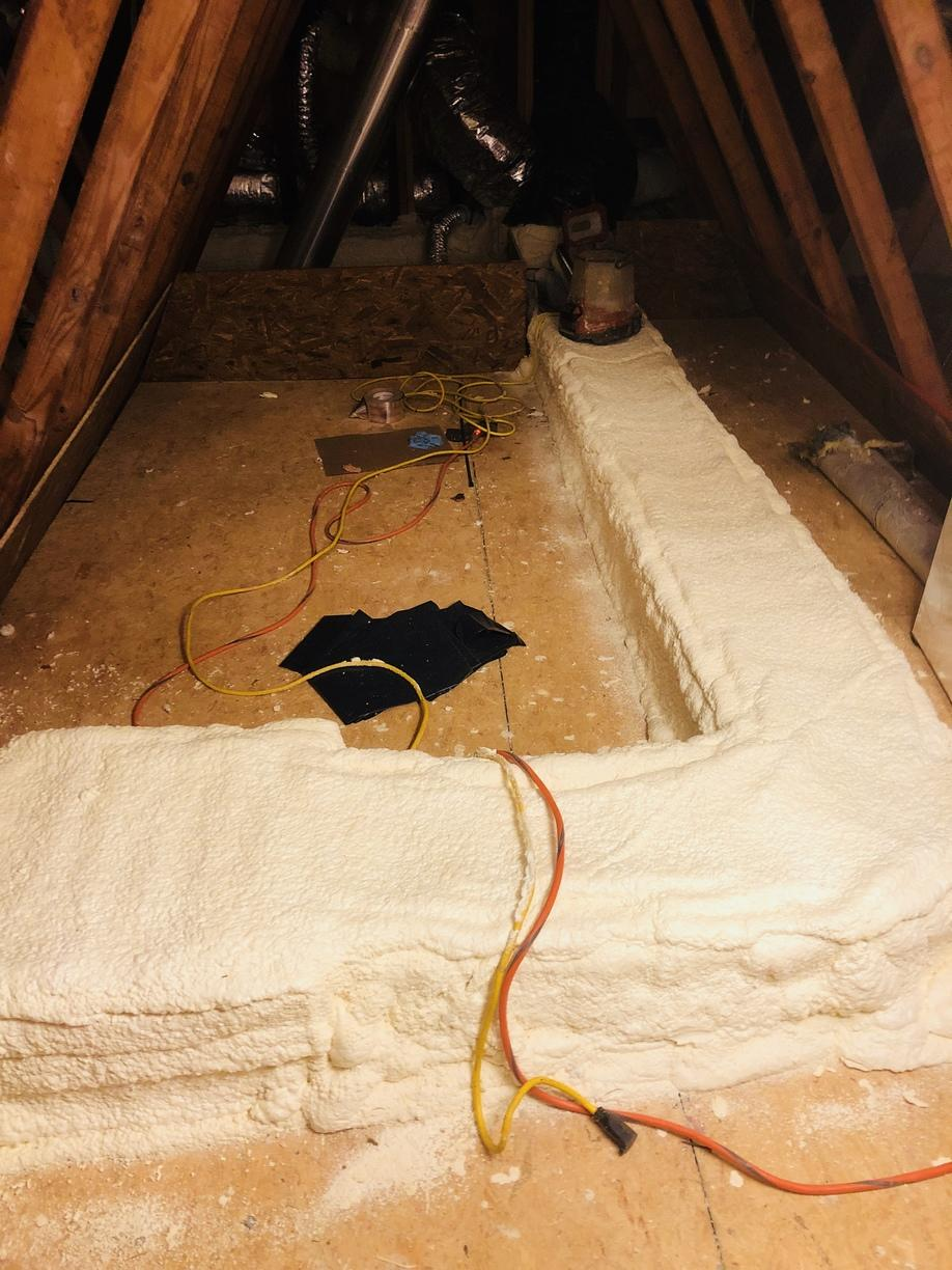 Attic Insulation Out With The Old And In With The New