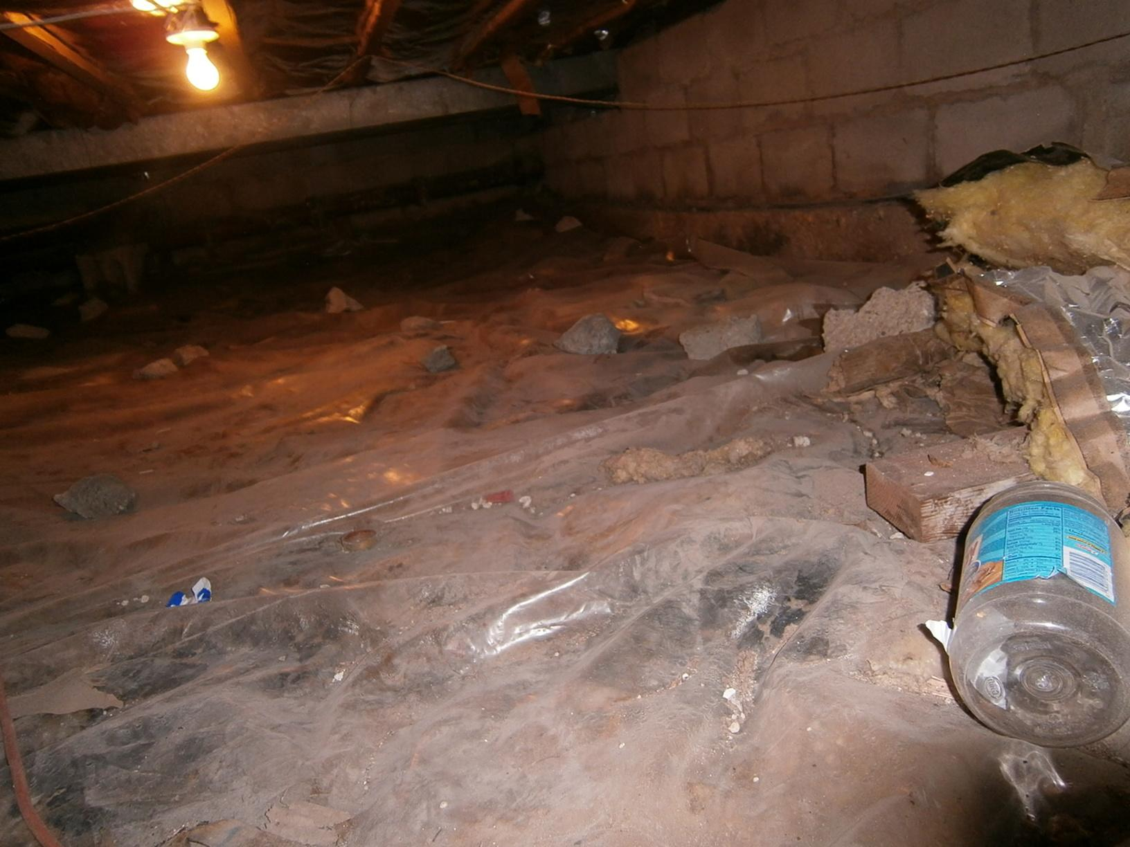 Poorly Sealed Crawl Space in Bronxville, NY
