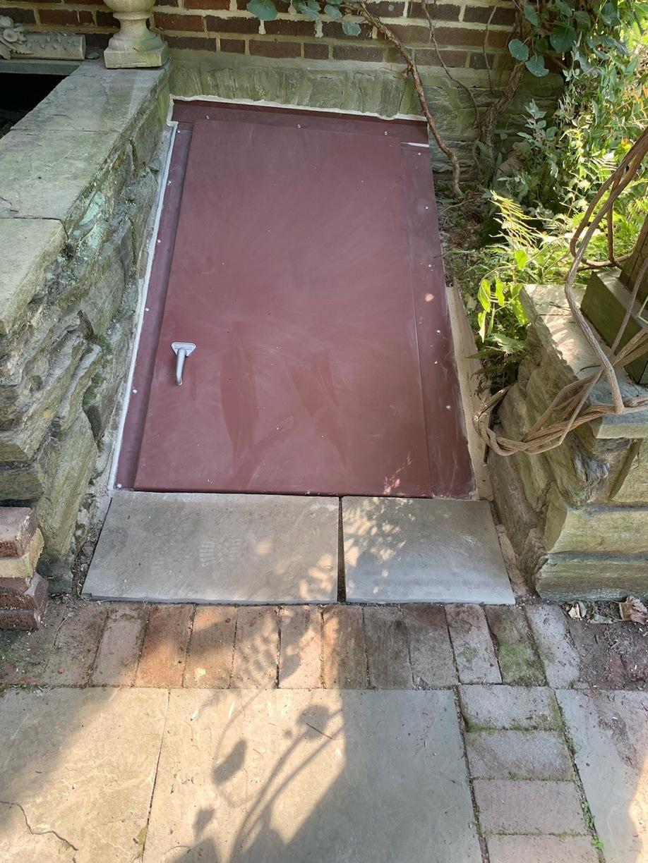 Custom Flat Galvanized cellar door installed in Philadelphia, PA
