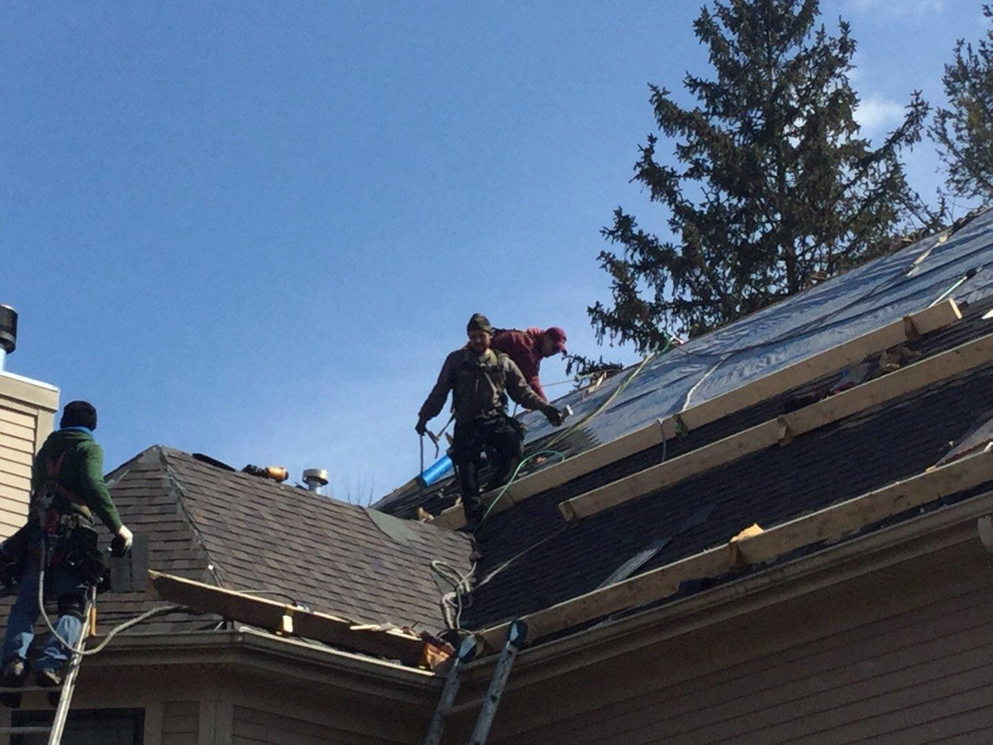 Roof Replacement Plainfield Victorian Home Steep Roof Safety