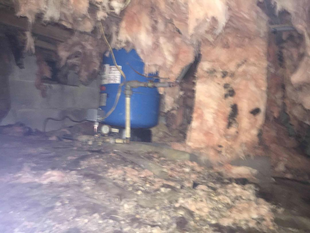 Before - Well Pump In Crawl Space