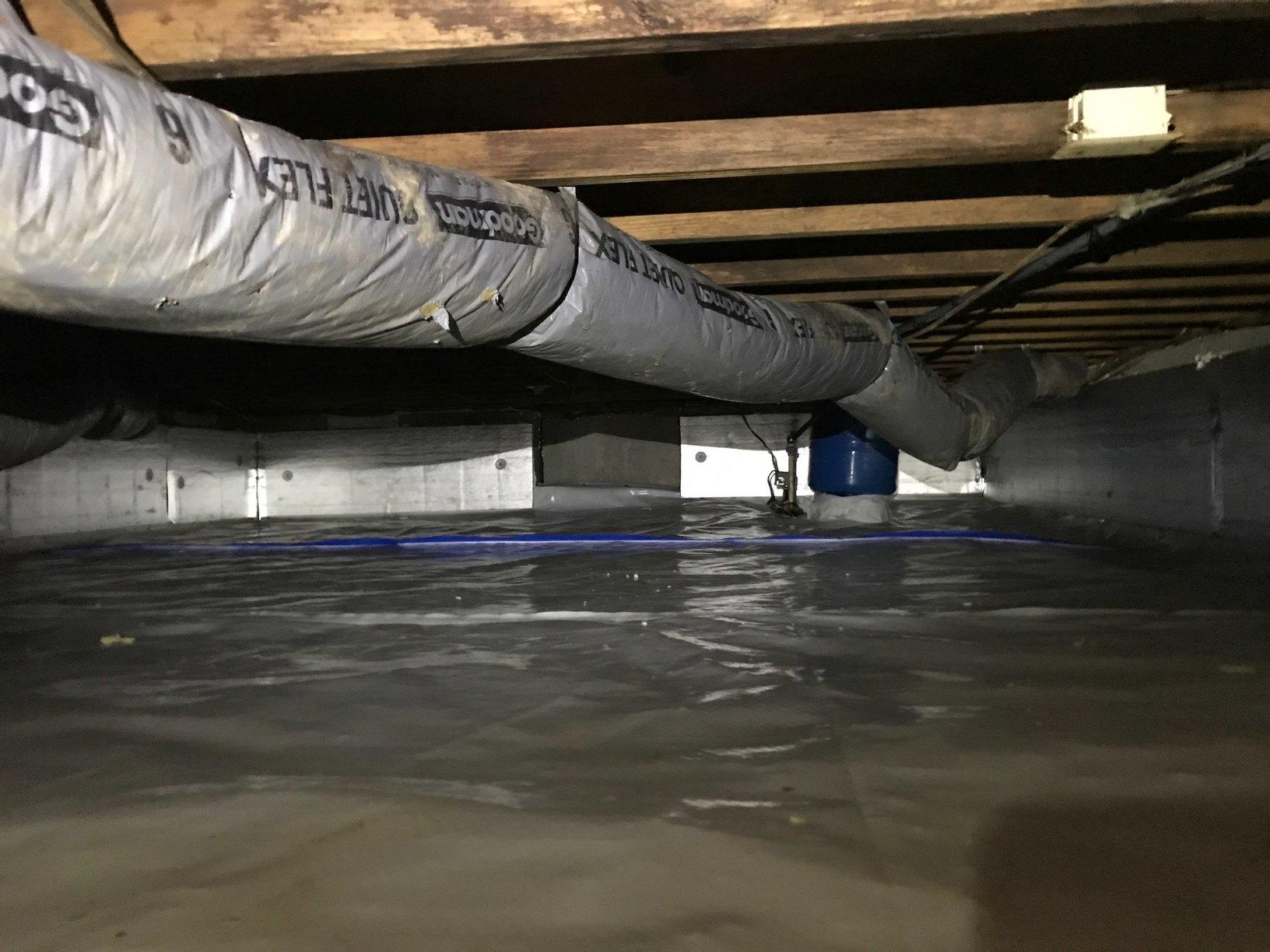 After - Well Pump in crawl space