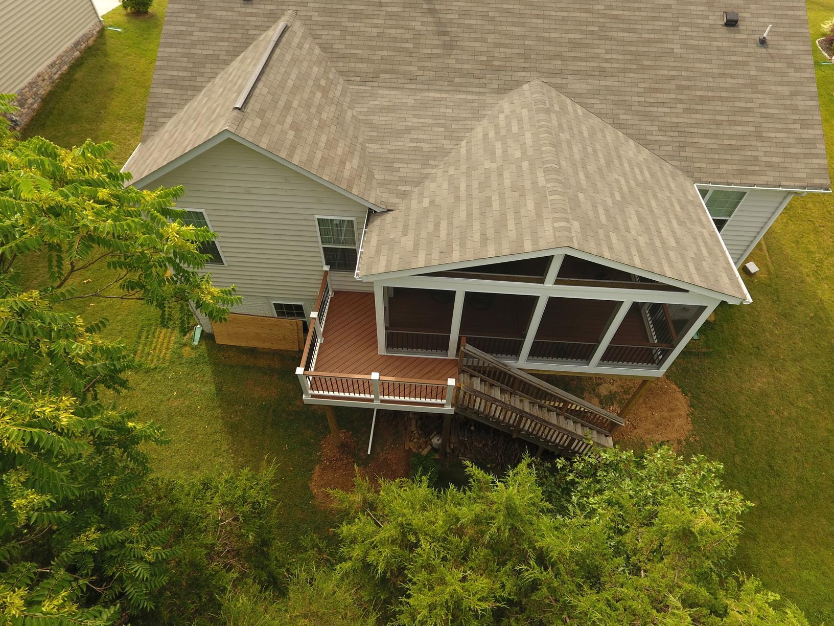 Porch Updated in Winchester, VA