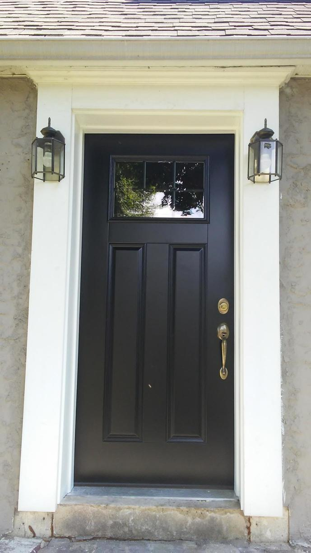 Coal Black Steel Entry Door Installation in Feasterville, PA