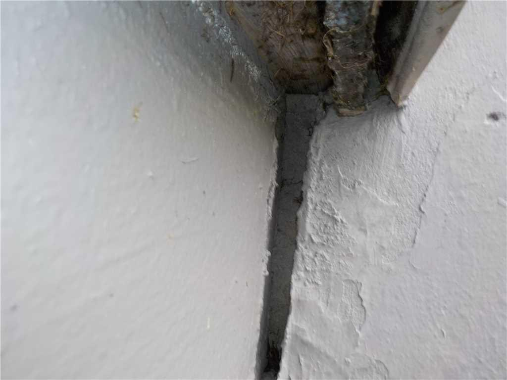 Under Porch Cracks