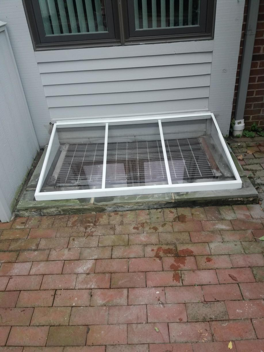 Window well cover installed in Lafayette Hill, PA