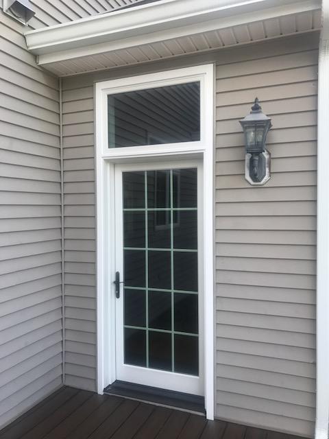 Marvin Infinity Fiberglass Patio Door and Picture Window Exterior