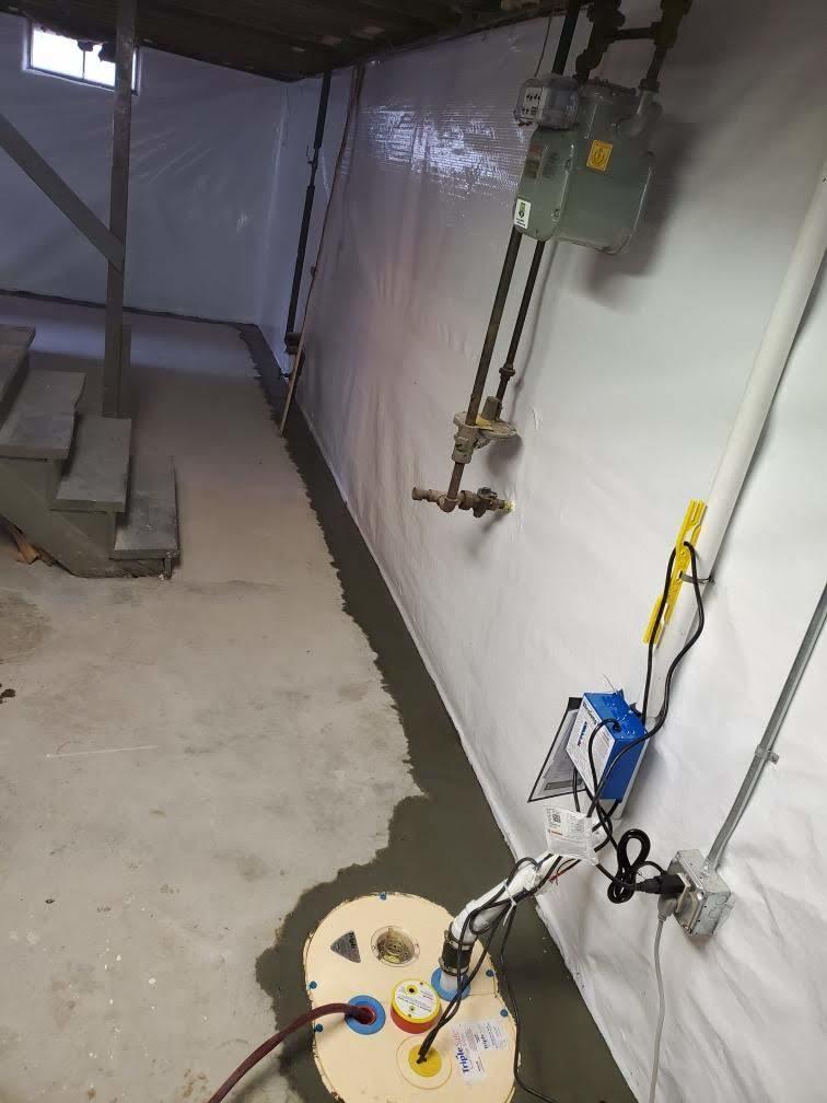 A Waterproofed Basement in West Springfield, MA
