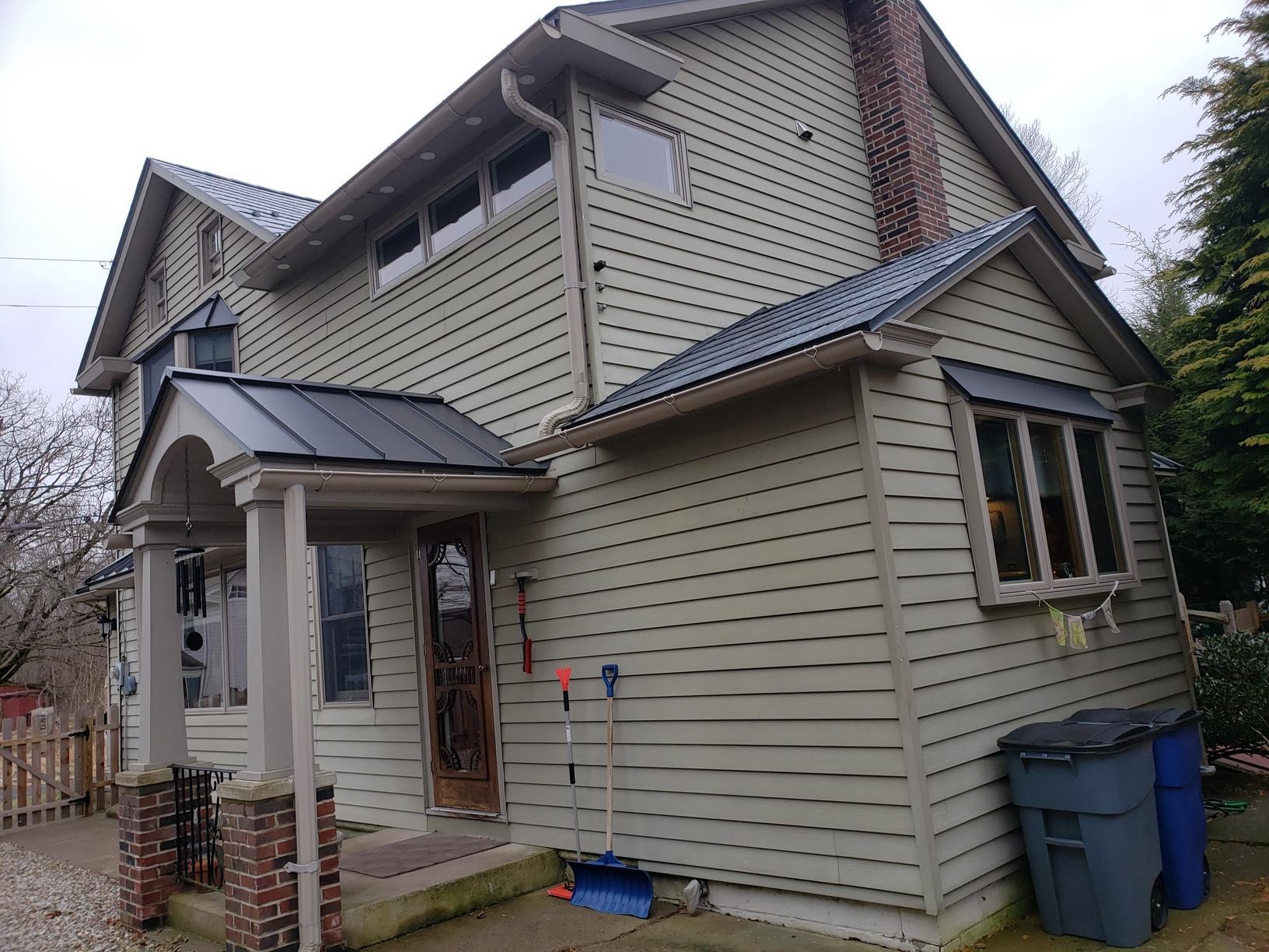 Installing Steel Slate and Standing Seam Metal Roof in Upper Black Eddy, PA