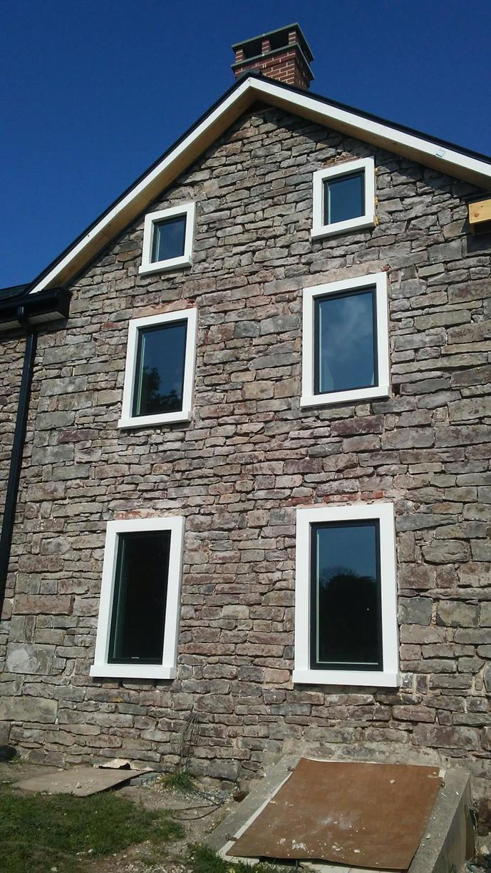 Marvin Infinity Windows Installed on Stone Home in PA