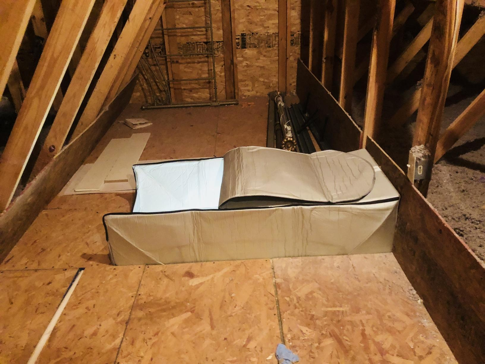 Attic Insulation Scuttle Covers And Air Baffles In