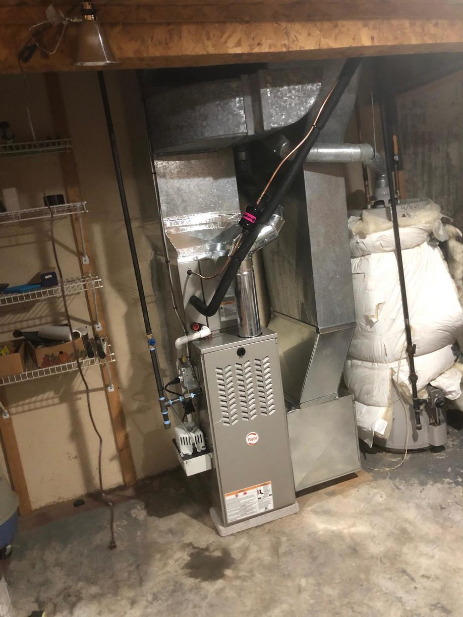 Gas furnace replacement for our customer in Branford!