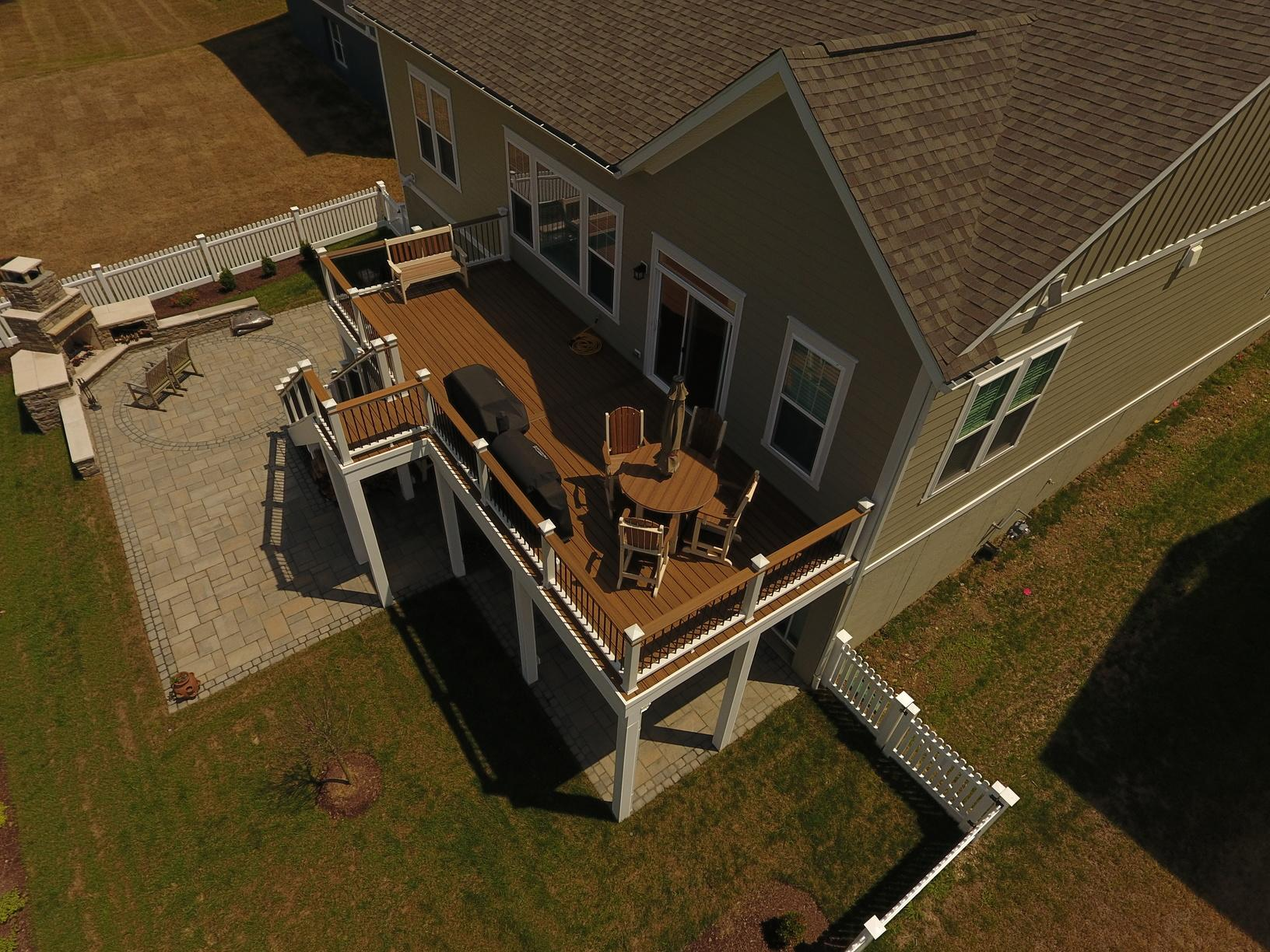 Porch, Patio, Fireplace and Fence in Aldie, VA