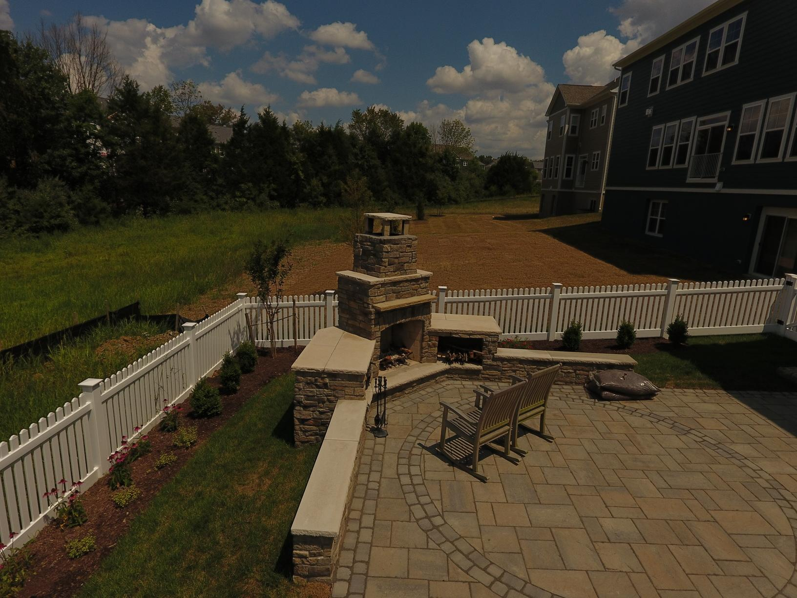 Patio and Fireplace in Aldie, VA