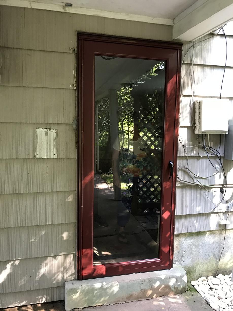 ProVia Storm Door with Mountain Berry Finish Install in Doylestown, PA