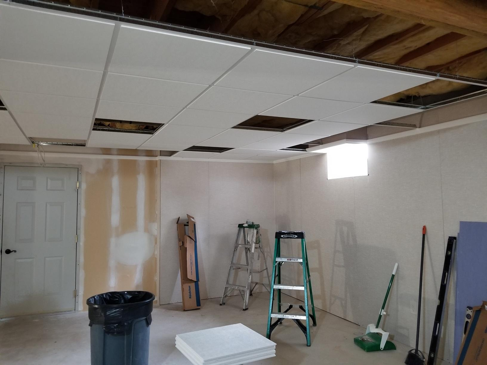 Ceiling going in