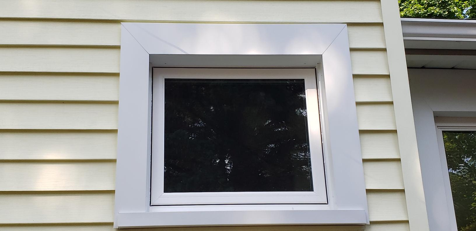 old picture windows were replaced with awning windows for ventilation