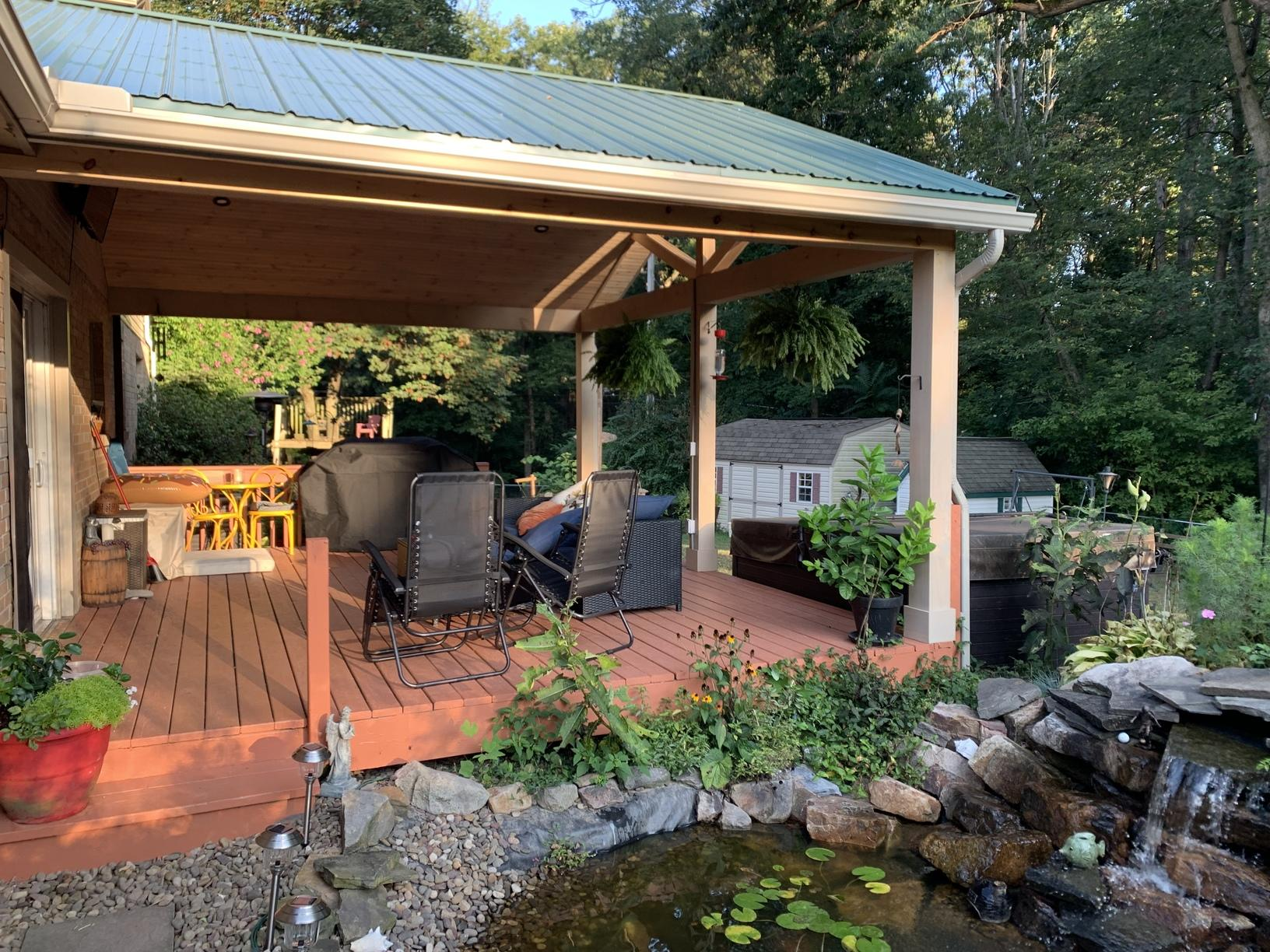 Constructed Patio Roof In Annville Pa
