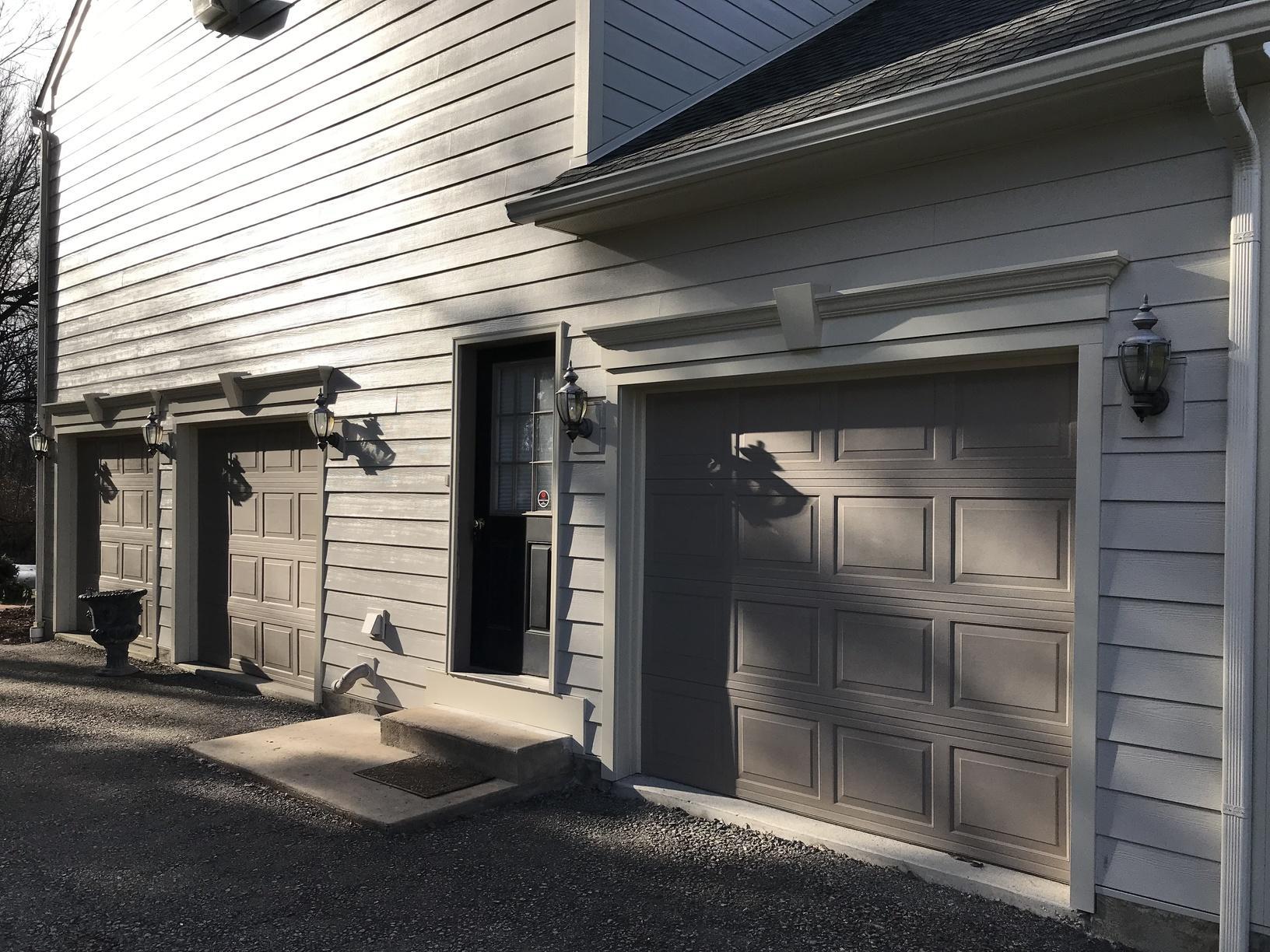 Fiber Cement Planks Installed Around Garage