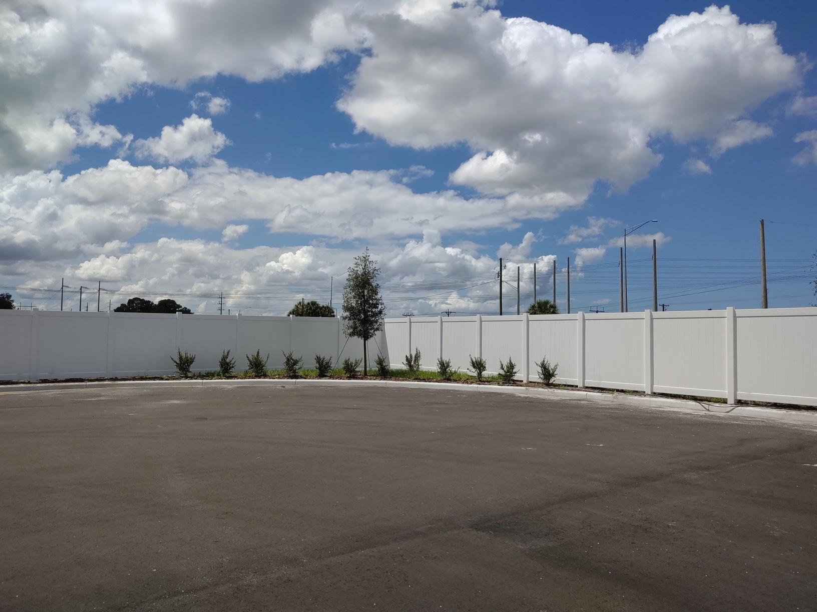 Commerce Center PVC Perimeter Fence