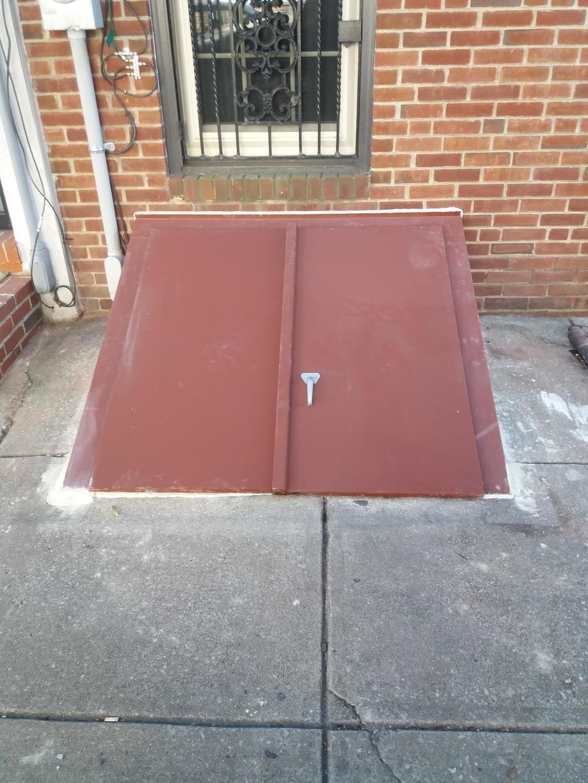 Replaced a sidewalk door with an angle door in Philadelphia, PA