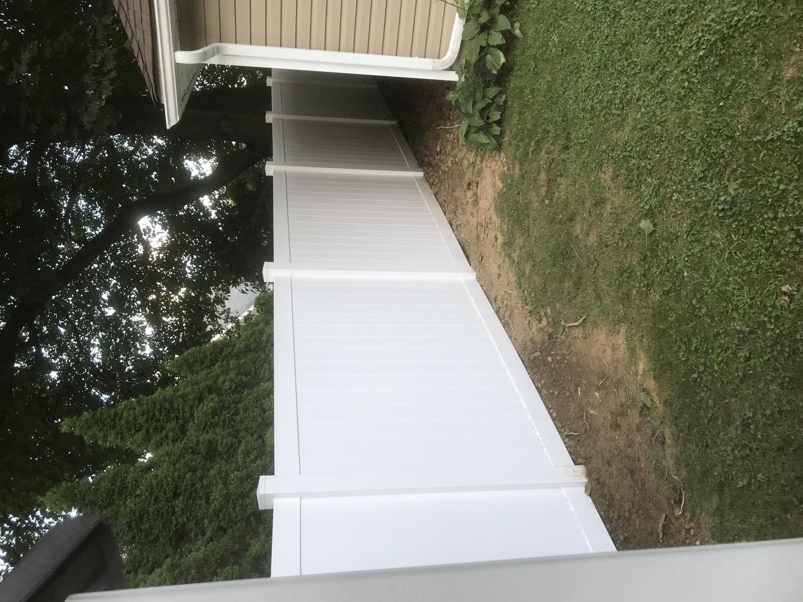 6' Acadia white vinyl privacy fence in Freedom