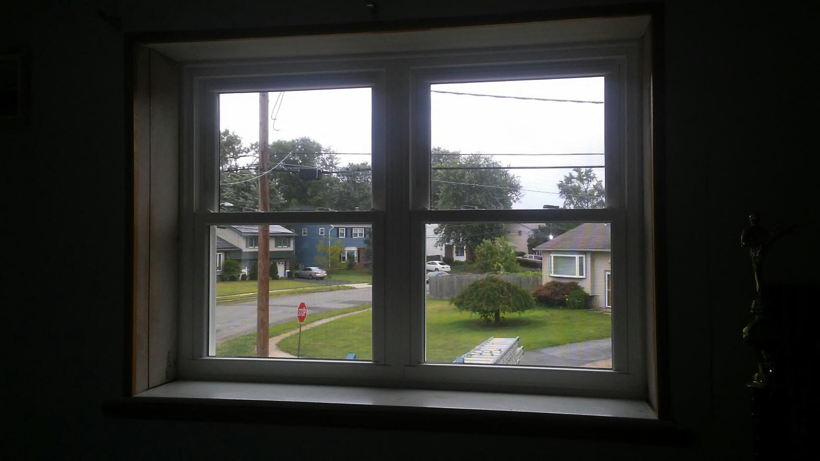 Interior View of GlobalTech Window Install in Edgewater Park, NJ